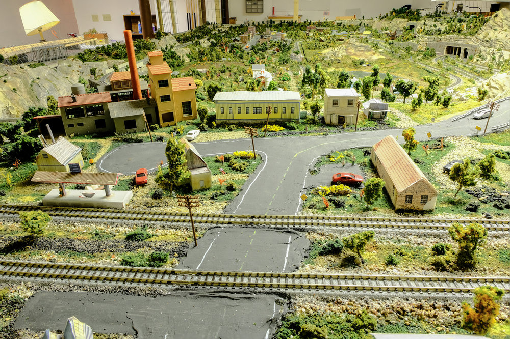 The view from the north side of the layout.