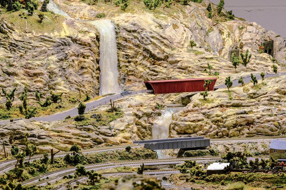 Waterfall and covered bridge!!!!