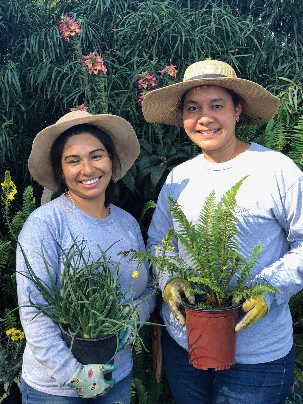 Nursery Gardeners Antonia and Keyla
