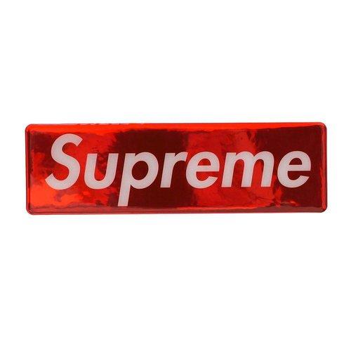 Supreme metallic red box logo sticker