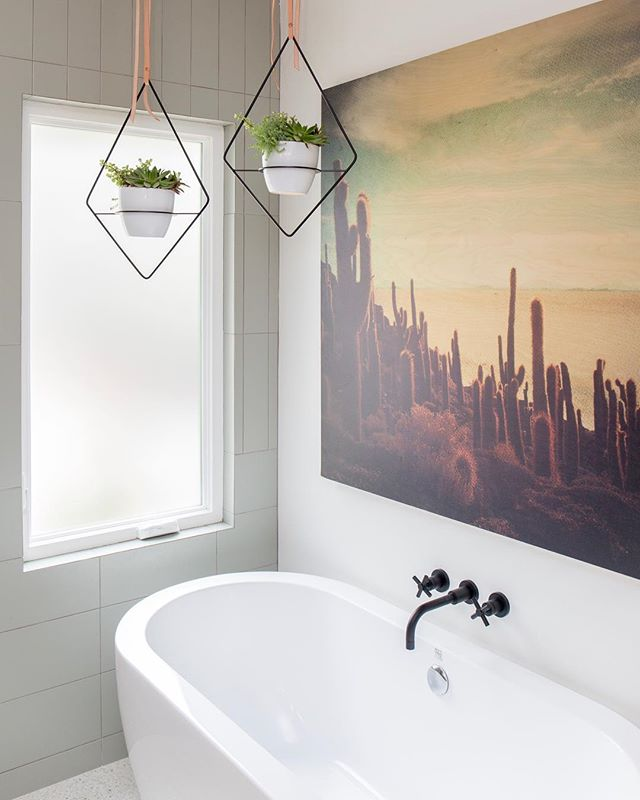 I plant even with this corner of the #parkestates project. The perfect spot to begin or end your day! 🛁🌿#gigikramerinteriors  Photo: @rad__man