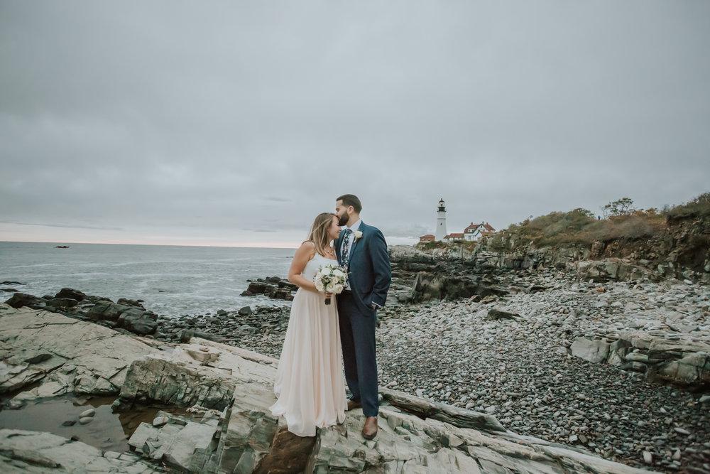 Fort Williams Park Elopement Portland, Maine Wedding Photographer