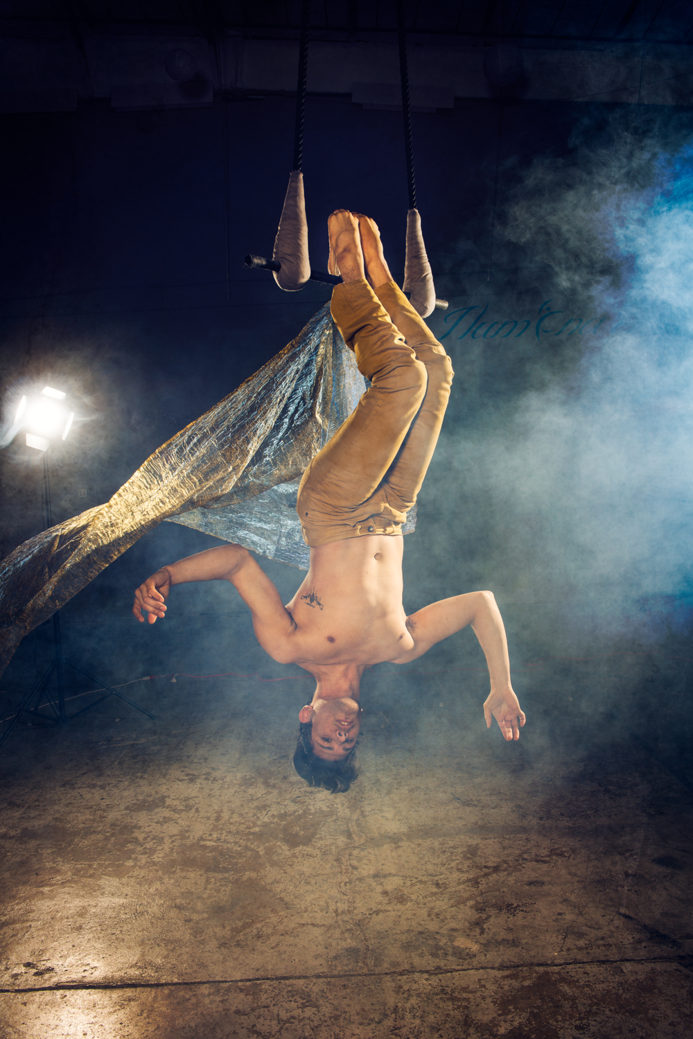 Daniel Nolasco:  Aerial & Aerial Partnering Instructor   Daniel Nolasco set himself to train in a variety of art forms until he found his calling in circus. He came into the artistry with Frequent Flyers Productions in Boulder, Colorado.  The exhilarating combination of dance, theater, physicality, and music made circus his addiction. Daniel furthered his knowledge and passion for circus when he moved to Vermont; where he graduated from the New England Center for Circus Arts Professional Programs with a focus in Static/Dance Trapeze, Straps, and Sling.   Read More