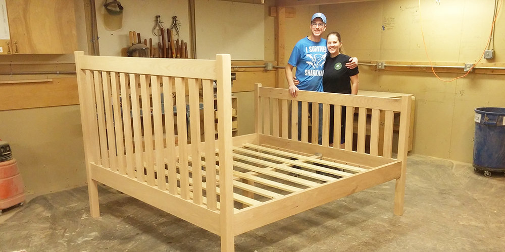 King size craftsman bed by one of our subscribers