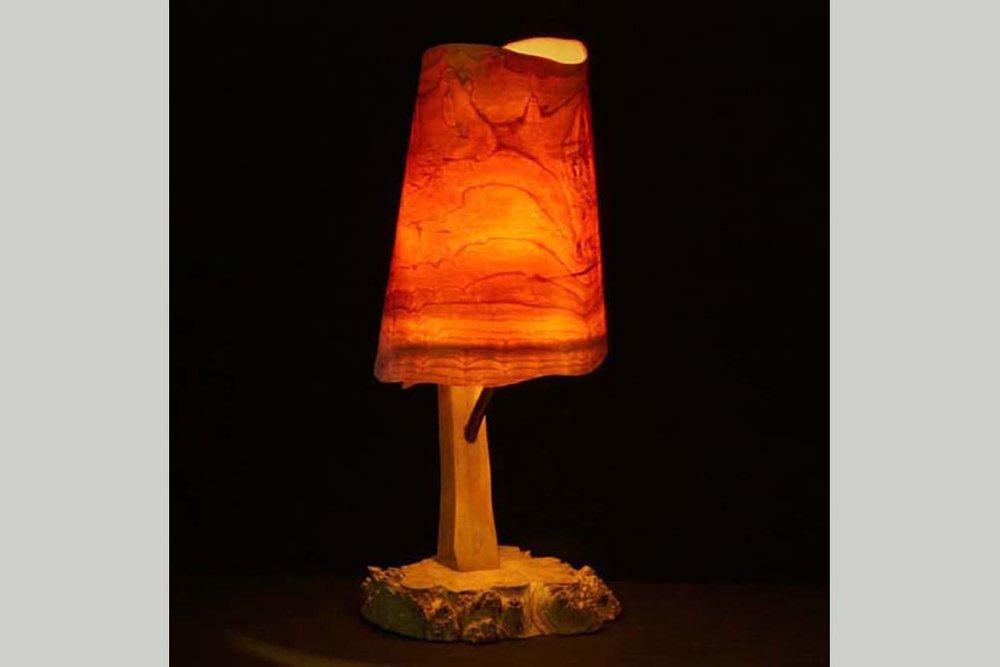 2001 Wood Lamp