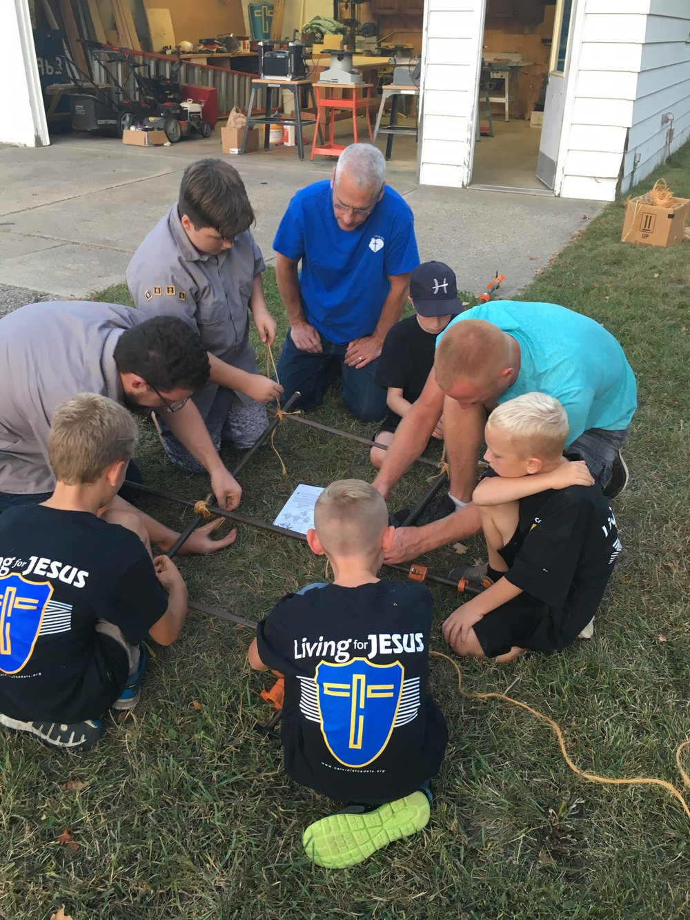 Cadets - Cadets is a ministry for young boys first grade to eighth grade. Through Bible study and discussion, relationship building, and and learning new skills boys discover who God is and how He works in their lives. and in the world.