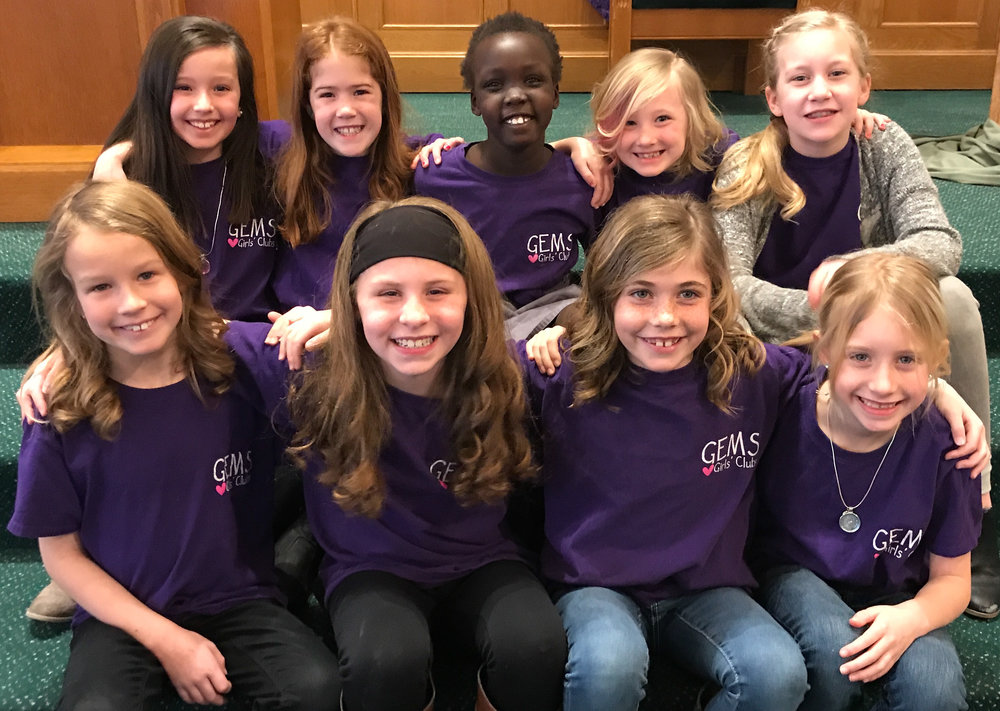 GEMS - GEMS ( Girls Everywhere Meeting the Savior!) Through Bible-based lessons, activities and song young girls learn who  God is, how he is at work in their lives and learn to how to make a difference in the world for God.
