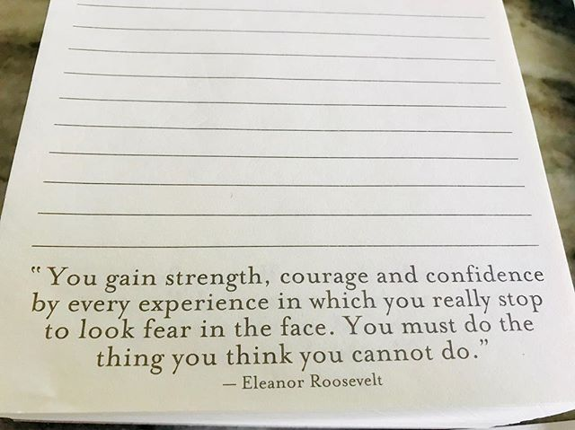 Inspiring thought for the day.  How do you push through your fears?  Inspirewithyou.com