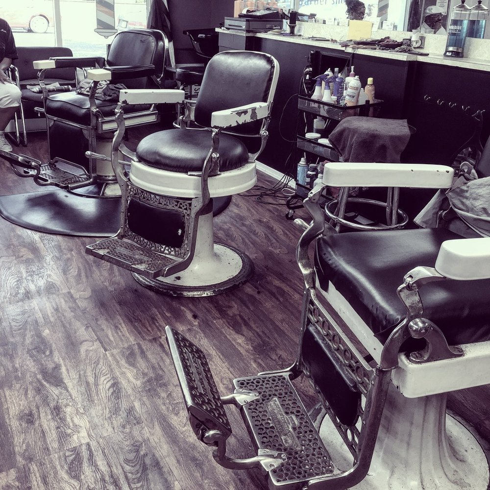 Bryant's Barbershop uses antique barber chairs surviving five decades in the Clayton shop. (Photo: Carly Q. Romalino)