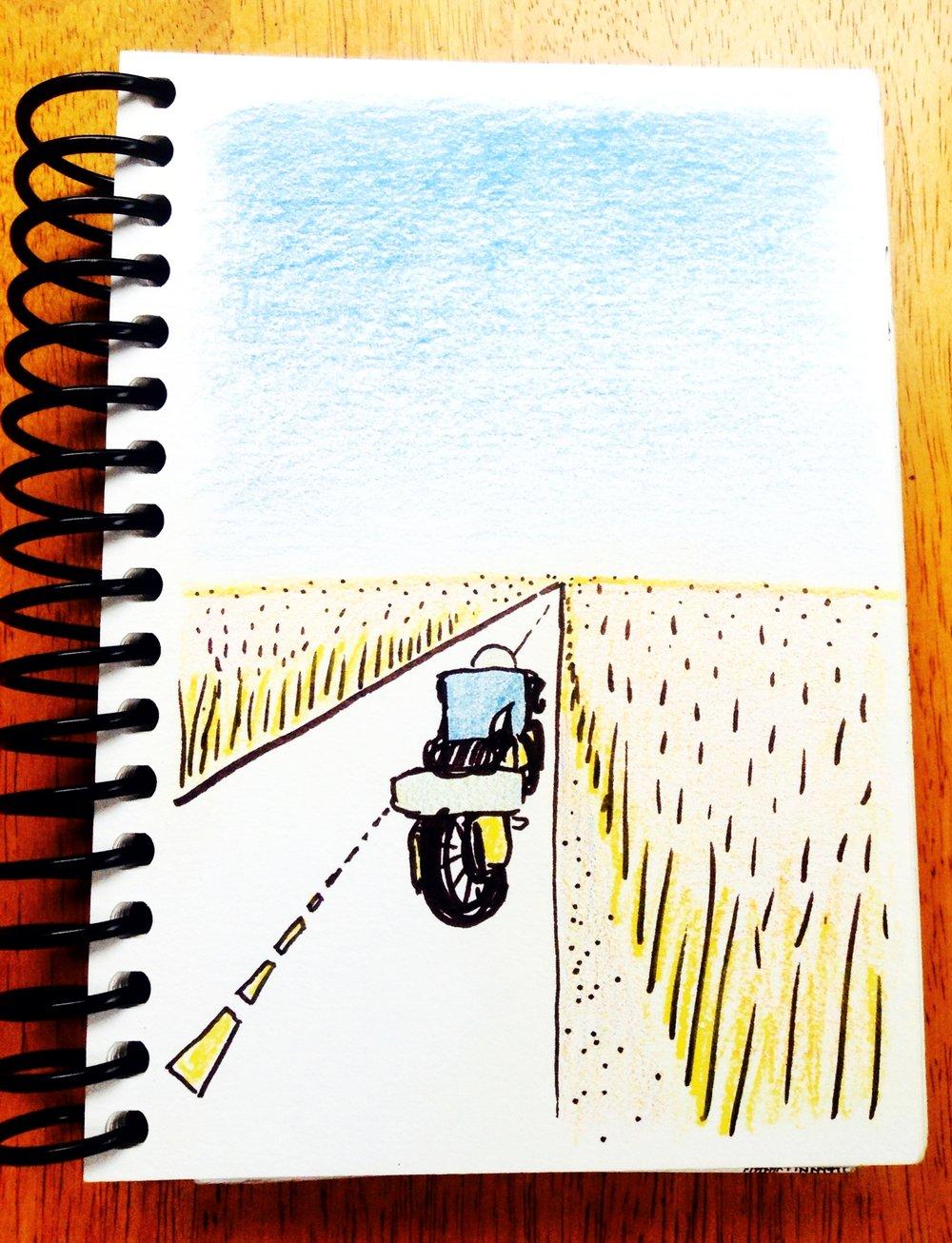 A sketch I drew, remembering Kansas...