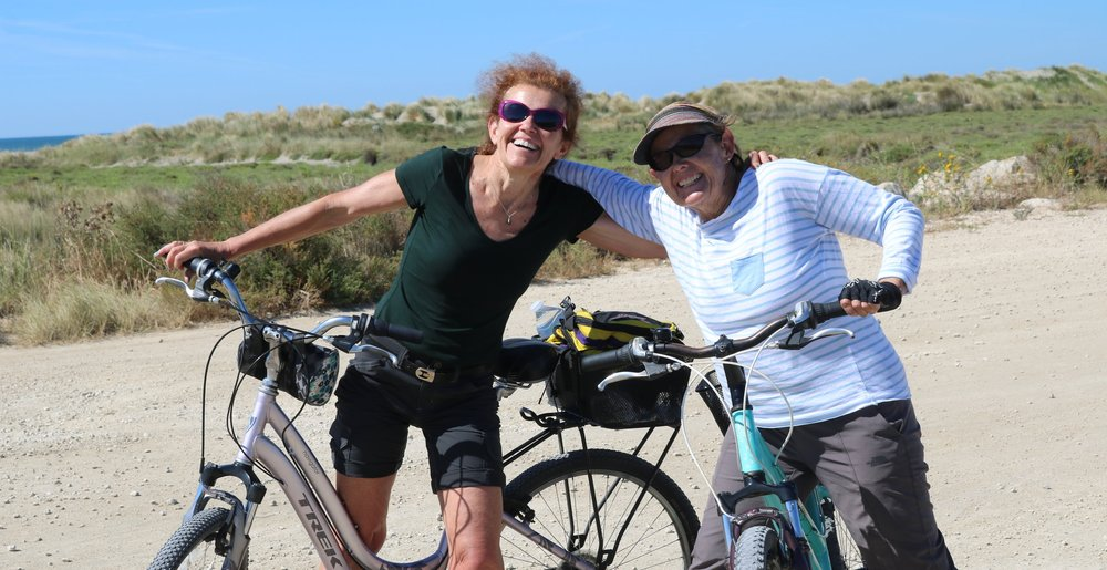 Biking with sister Selina in Camarque France 2016.JPG