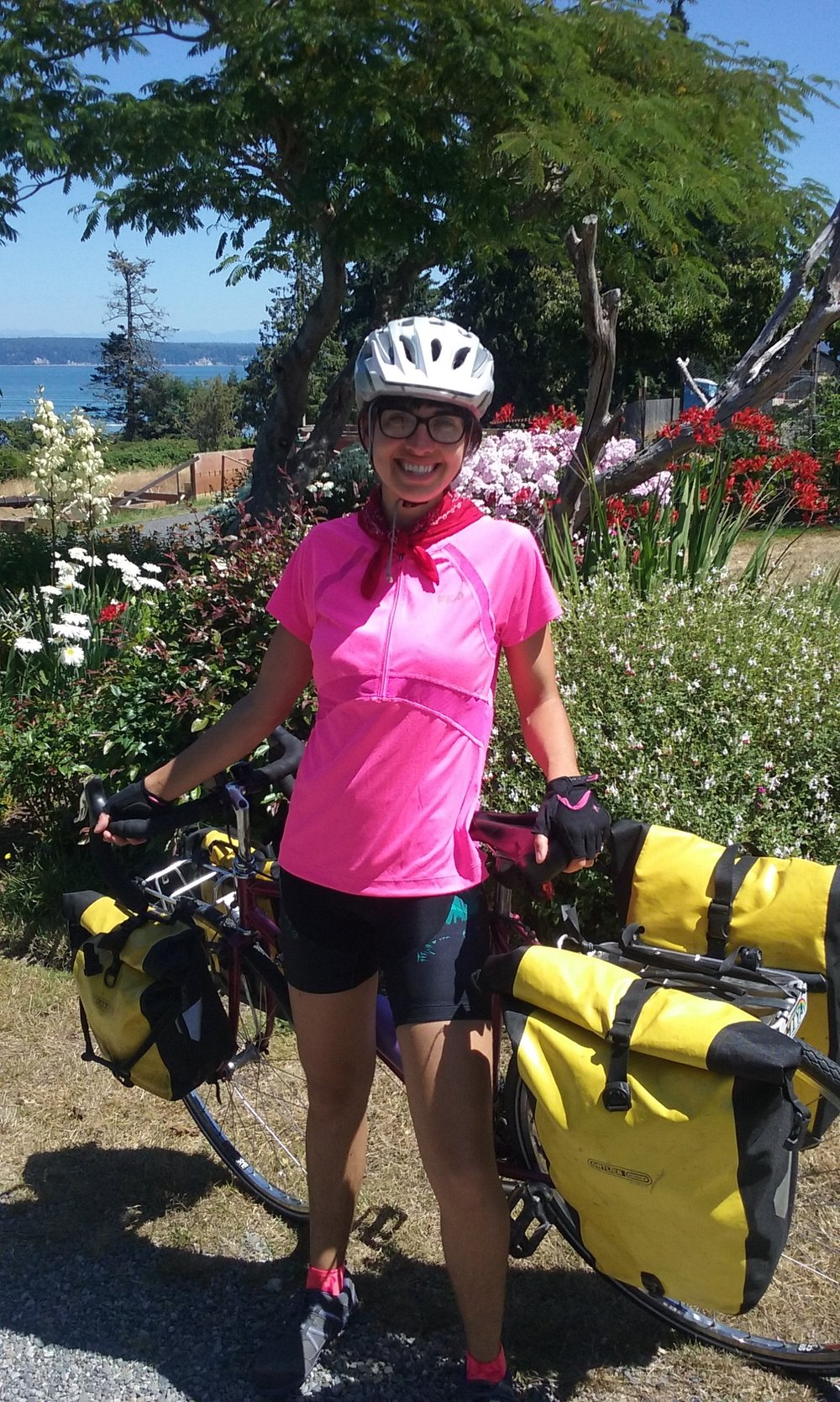 It was 25 miles from my front door to the Airbnb in Port Townsend, WA... which felt long and painful, but nothing compared to past bike tours. -