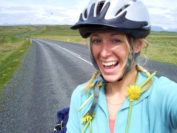 Laura's now pedaled over 12,000 miles through a handful of countries. -