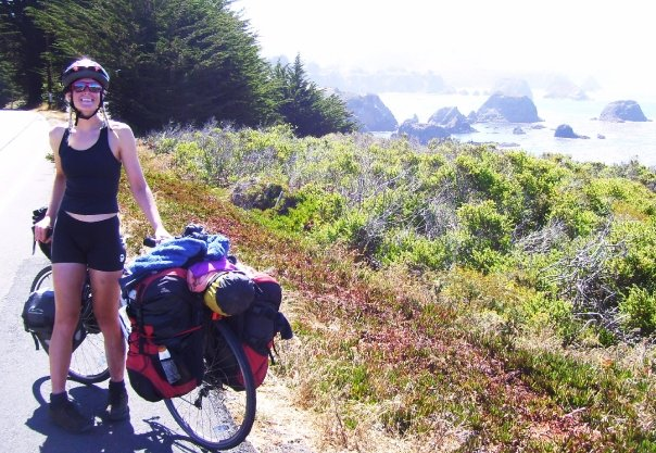"""""""I don't think every woman has to bike across the world; But I do think that every woman who wants to, can."""" -"""