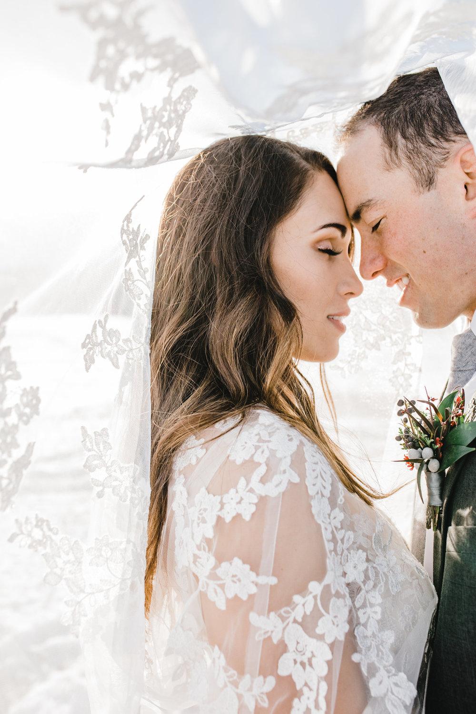 winter wedding bridal veil logan utah photos