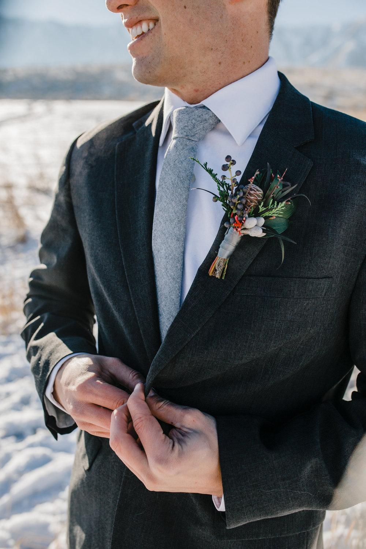 logan utah winter wedding photographer