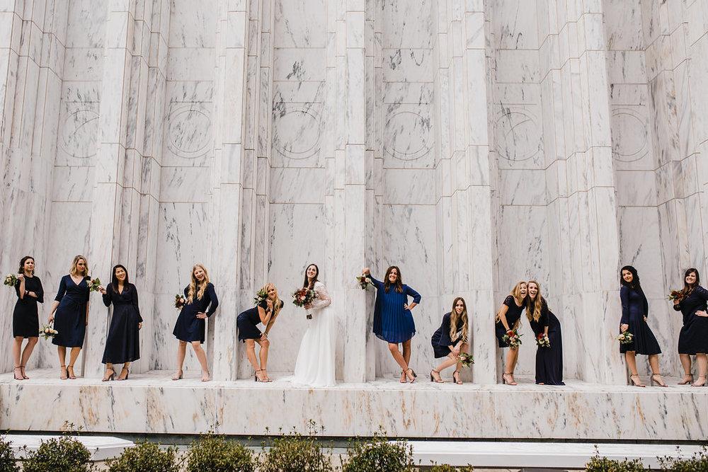 formal wedding party photographer logan ut