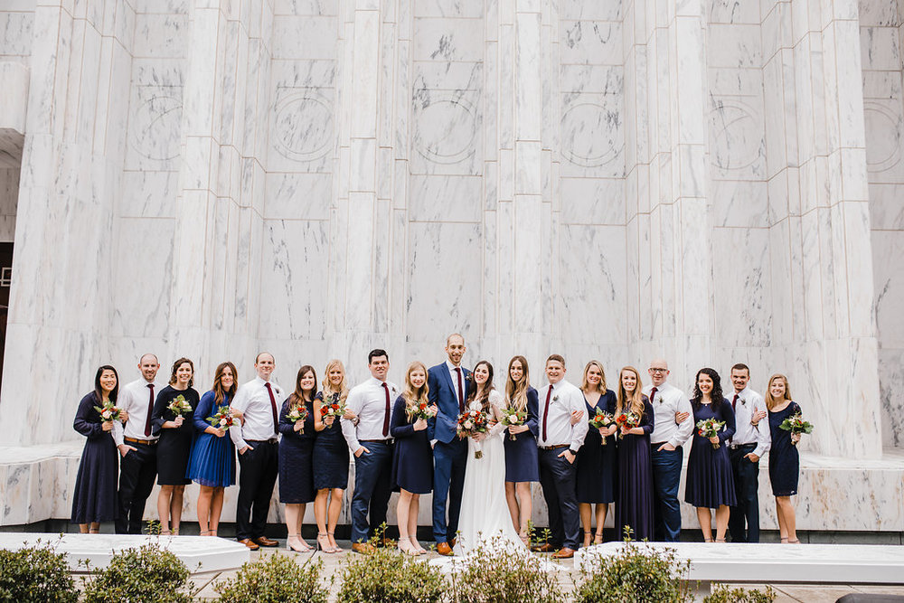 wedding party photos logan utah