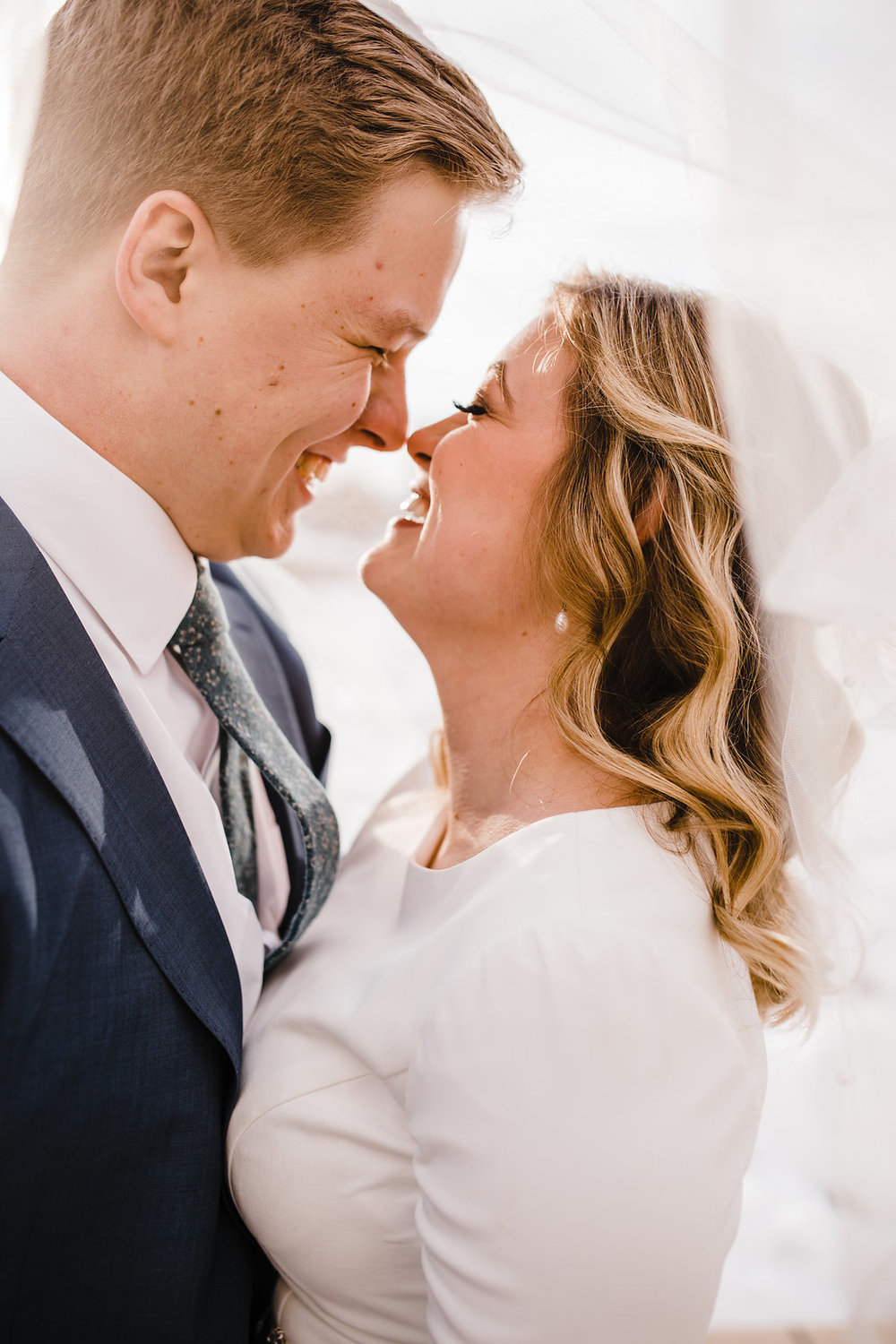 bride and groom close up lds wedding photographer logan utah