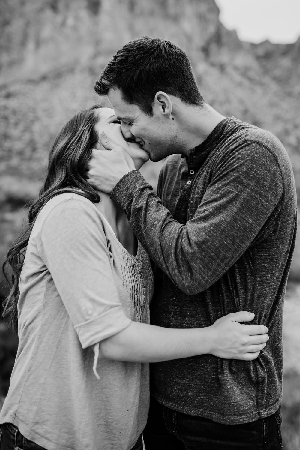 black and white engagement photos calli richards cache valley utah engagement photographer