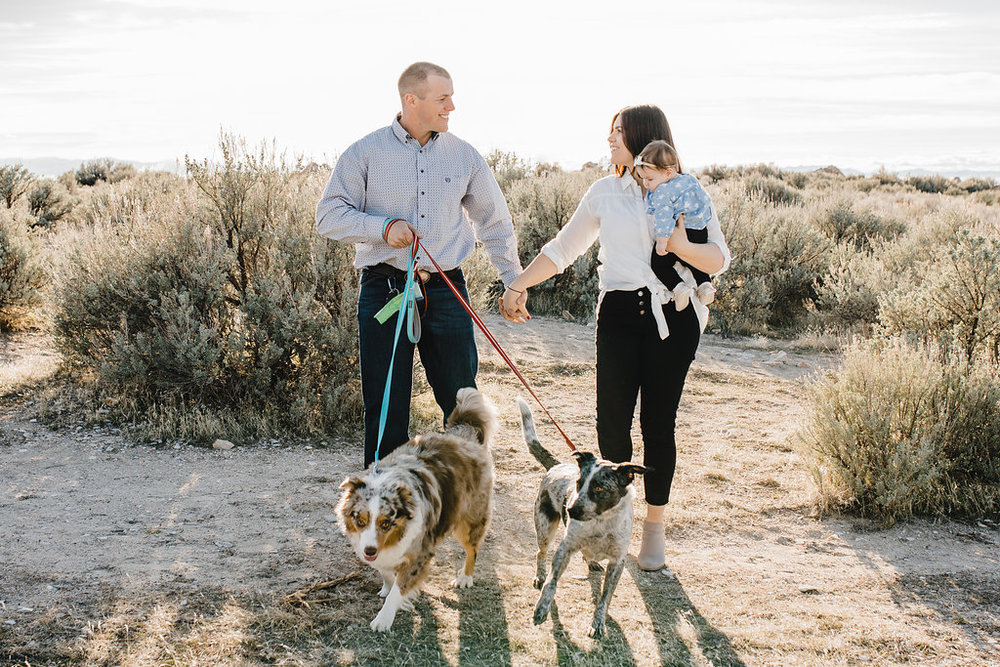 antelope island family pictures with dogs