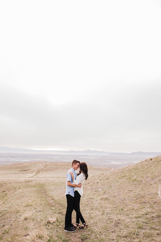adventurous couple engagement photography tunnel springs park salt lake city