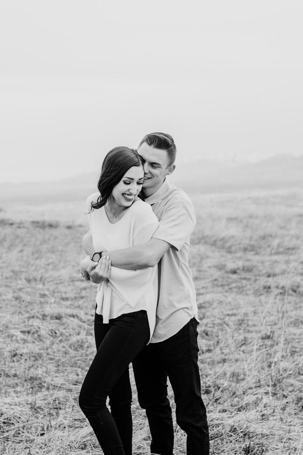 calli richards engagement pictures black and white romantic natural posing engagement photography salt lake city