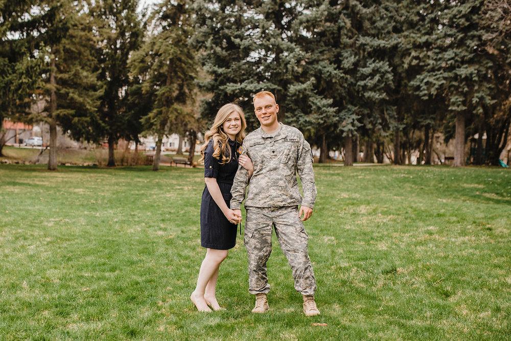 military engagement photo shoot couples photography calli richards logan utah