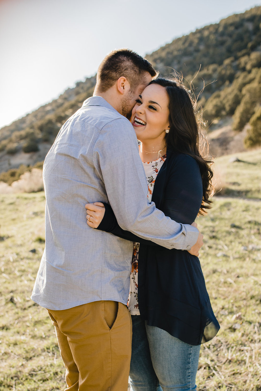 bright light romantic engagement photography couples photographer logan utah green canyon