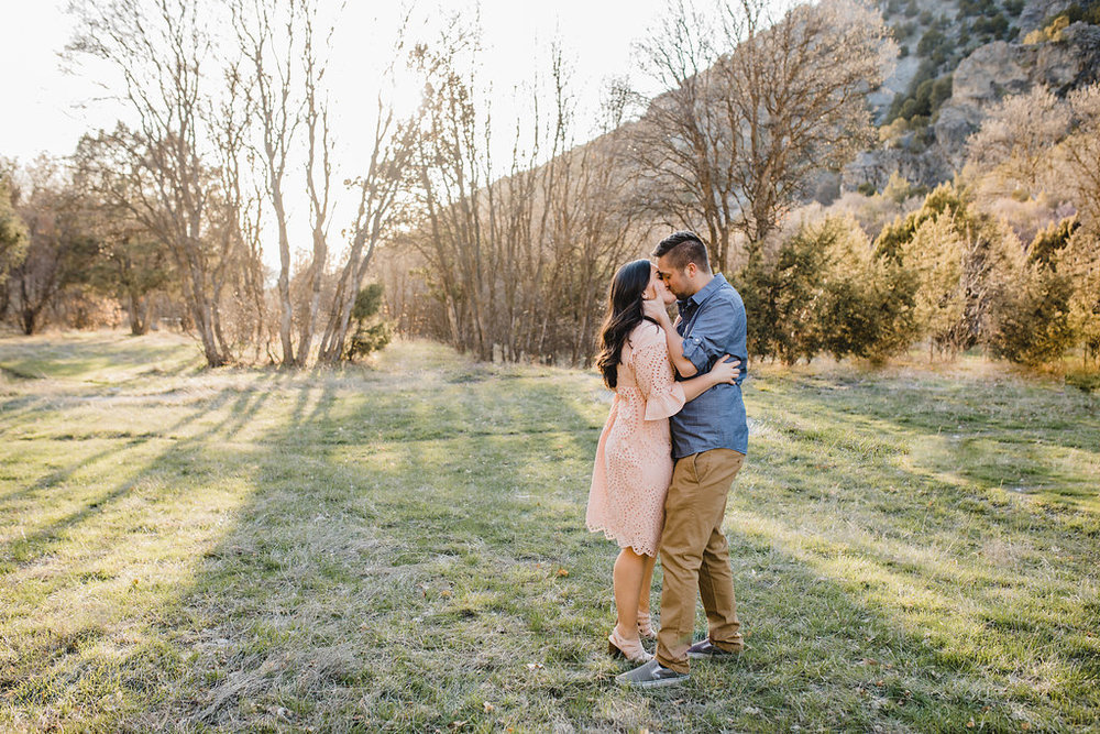 natural relaxed posing outdoor adventurous couples engagement photography logan utah