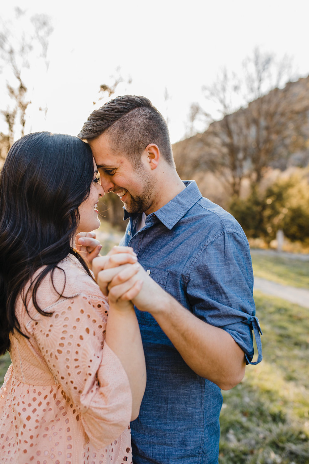 romantic young couple lds engagement photography northern utah cache valley