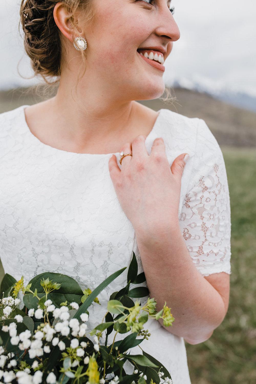 bride hair and makeup wedding details