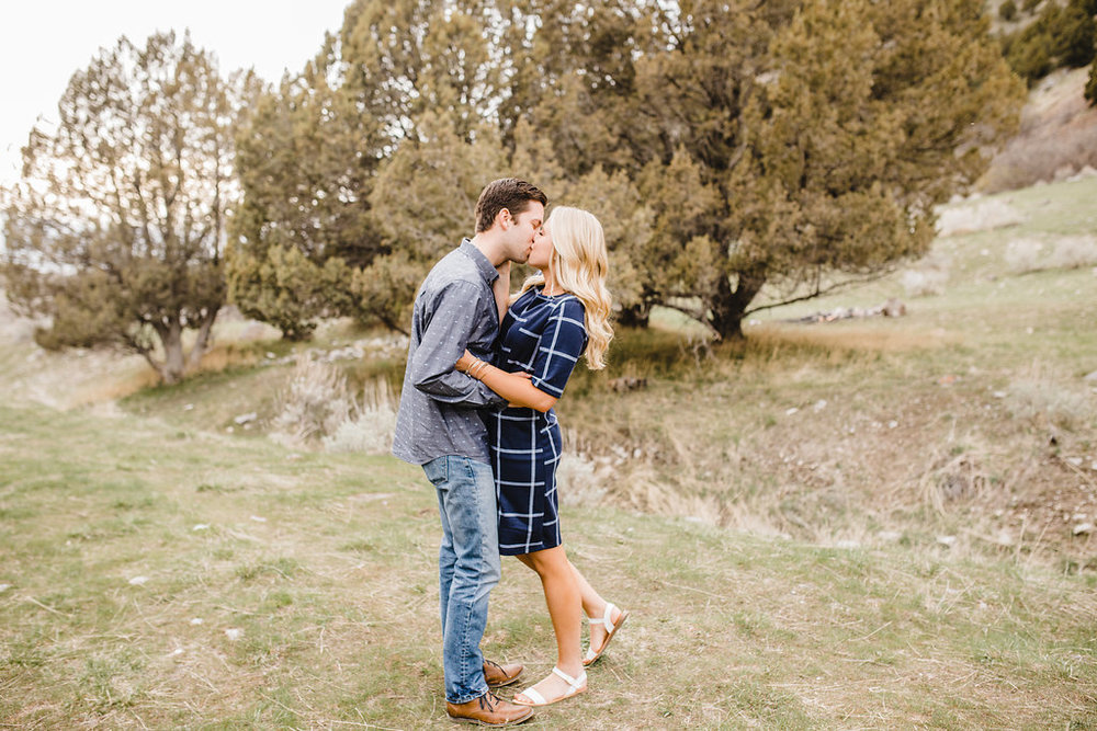 canyon mountain logan ut engagement photographer