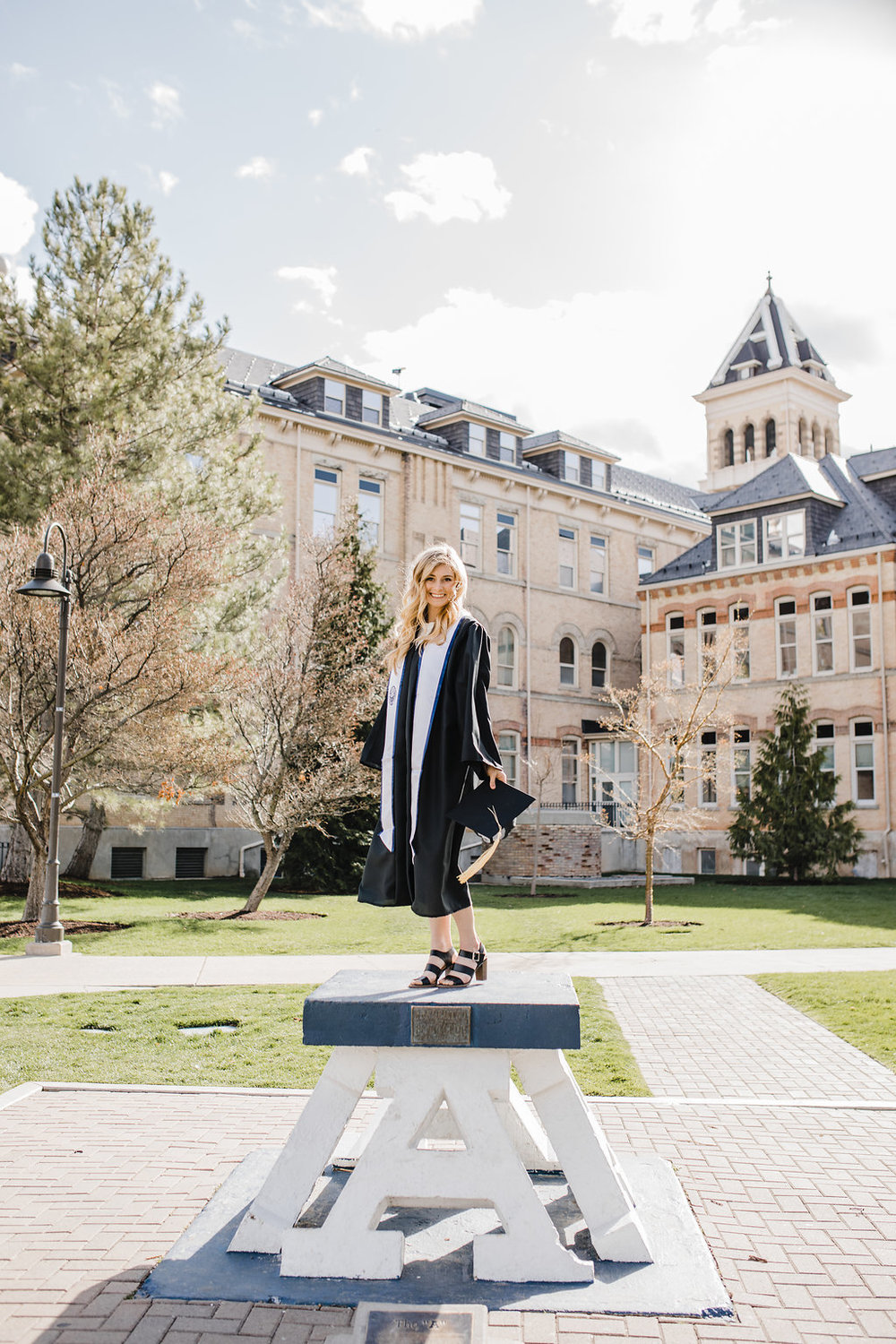 utah state university graduating seniors grad announcement photos calli richards