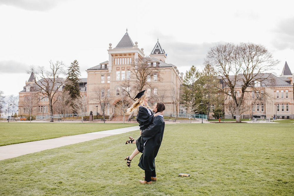 graduation photography couples usu logan utah state