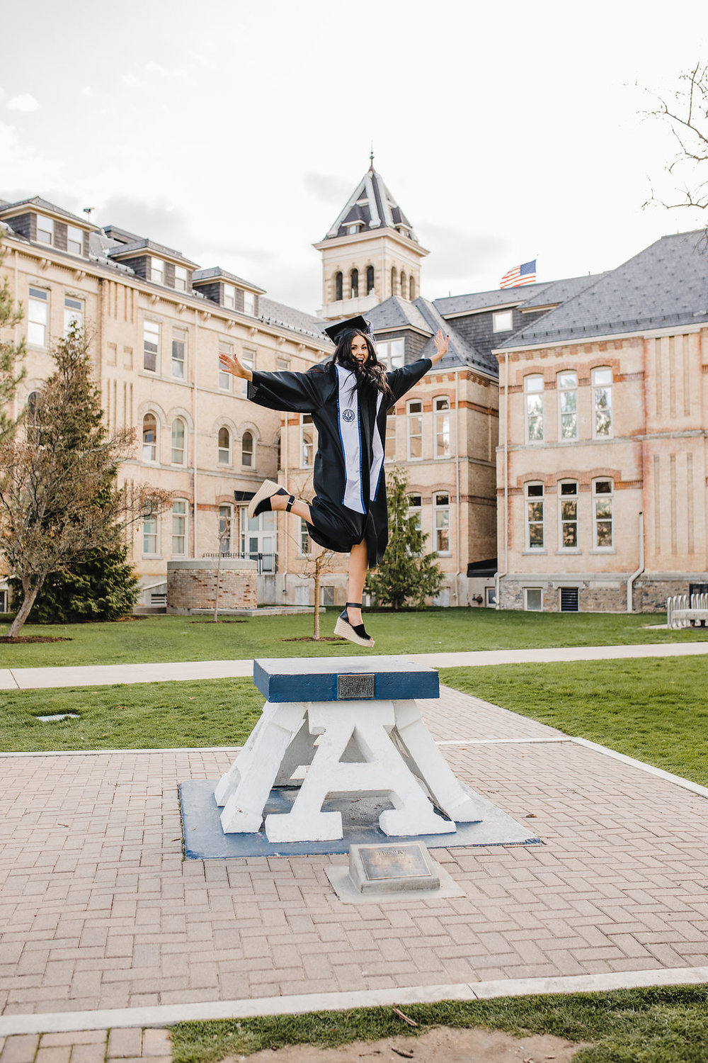 graduation cap and gown pictures logan utah photography usu