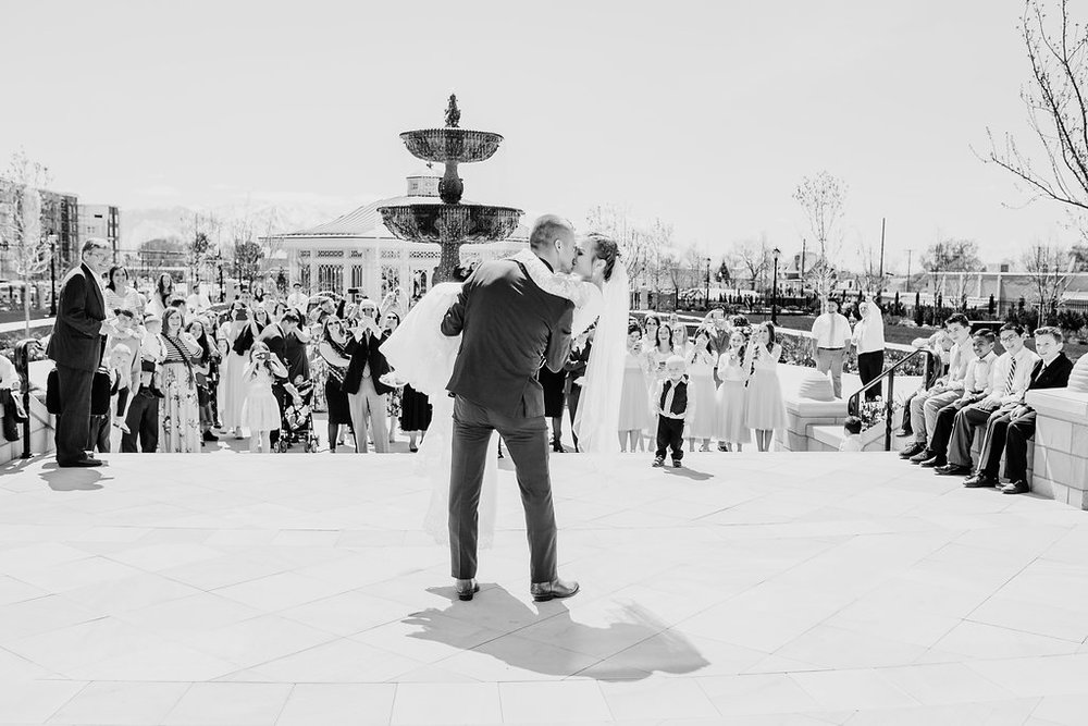 provo utah wedding photographer temple exit provo city center lds temple bride and groom