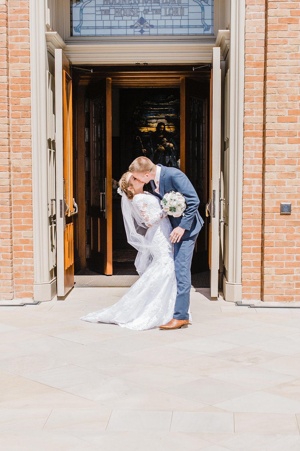 lds couple temple exit professional wedding photographer provo utah