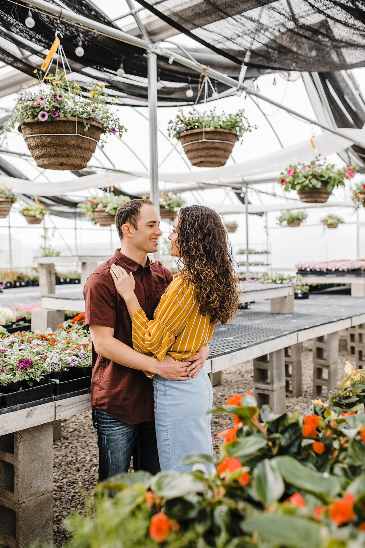 romantic greenhouse engagement photo shoot logan utah