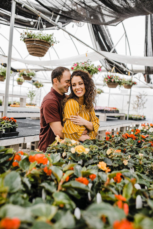 engagement photography logan utah greenhouse florals romantic shoot