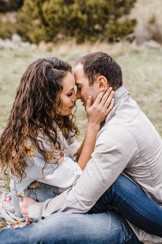 romantic bright light engagement photography logan utah calli richards so in love