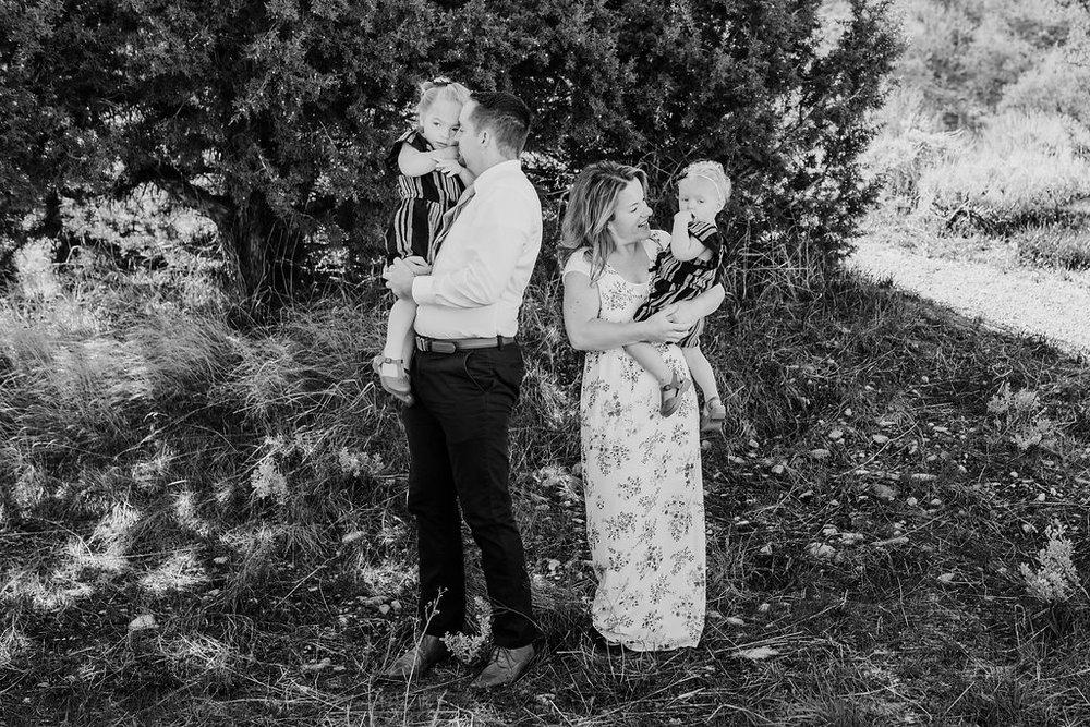 black and white family photographer logan utah green canyon