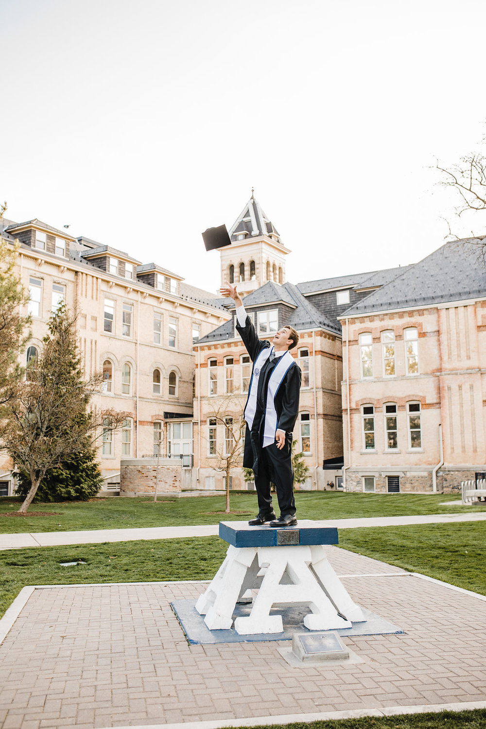 graduation photos logan utah state university college cache valley