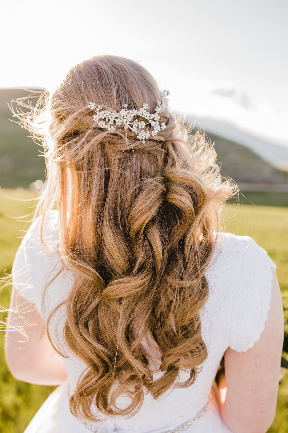 bride details hairpiece wedding photography bridals logan utah wedding photographer bridals session calli richards