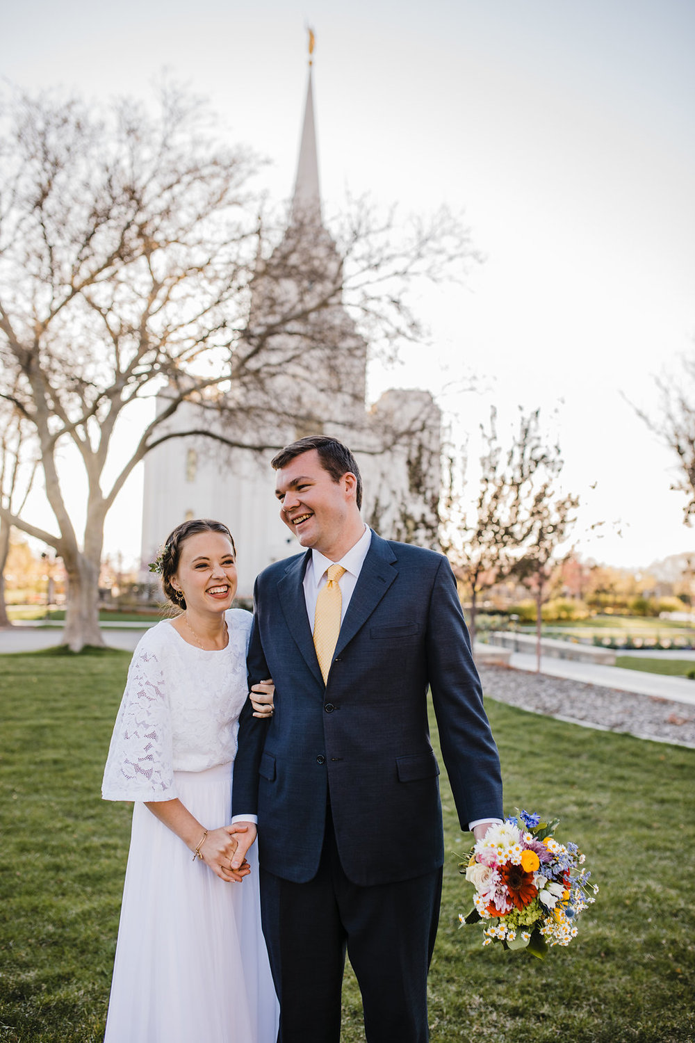 young couple in love romantic lds wedding photographer calli richards northern utah wedding photos lds temple