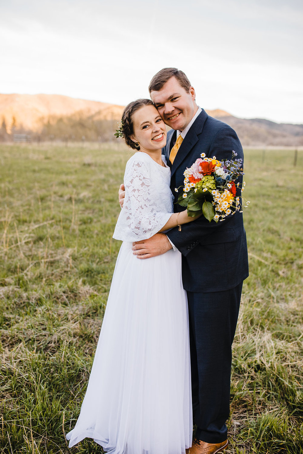 brigham city wedding photographer formals photographer mormon lds young couple modest wedding dress navy groom suit