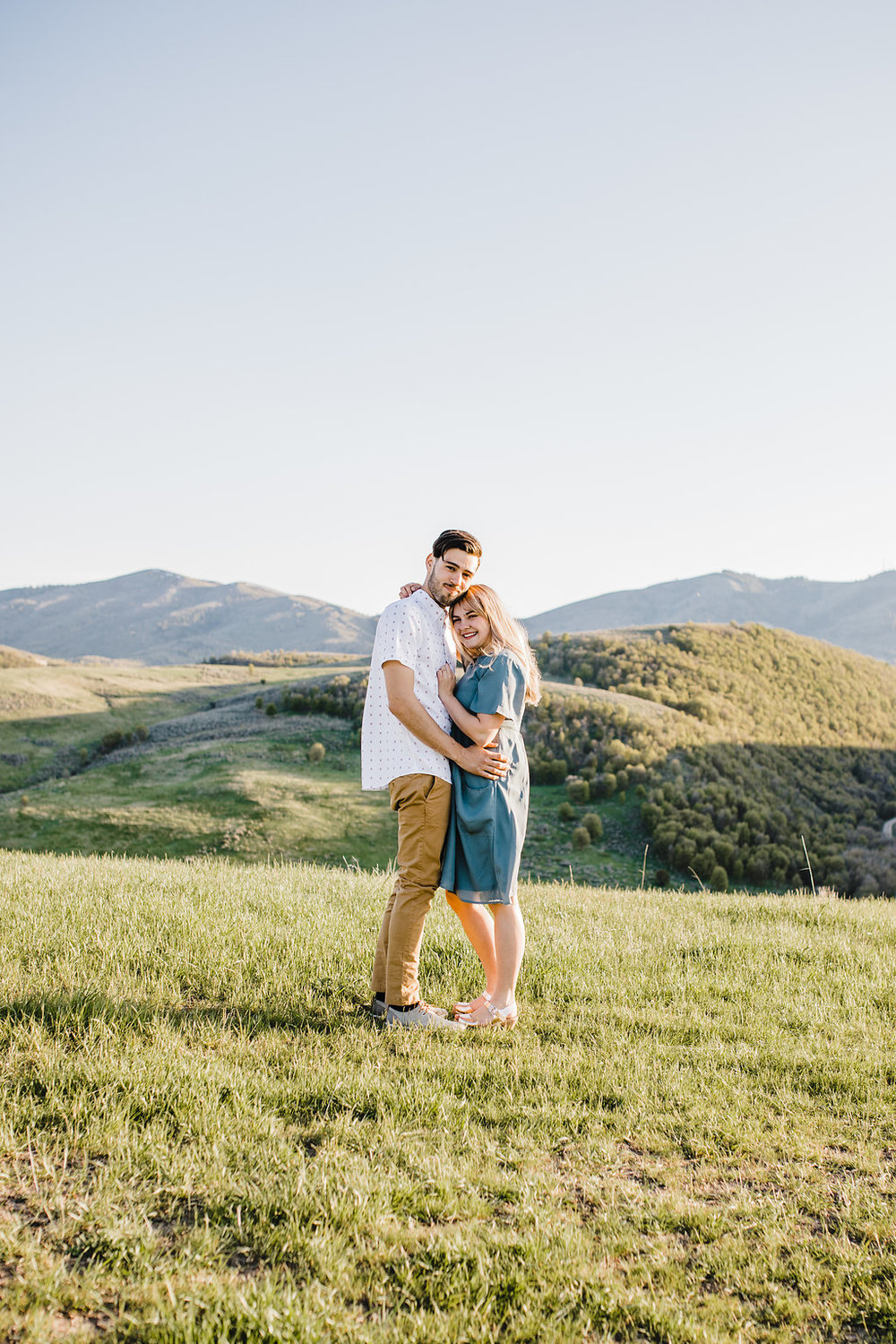 professional engagement photography northern utah cache valley mountains rolling hills outdoors adventurous couple