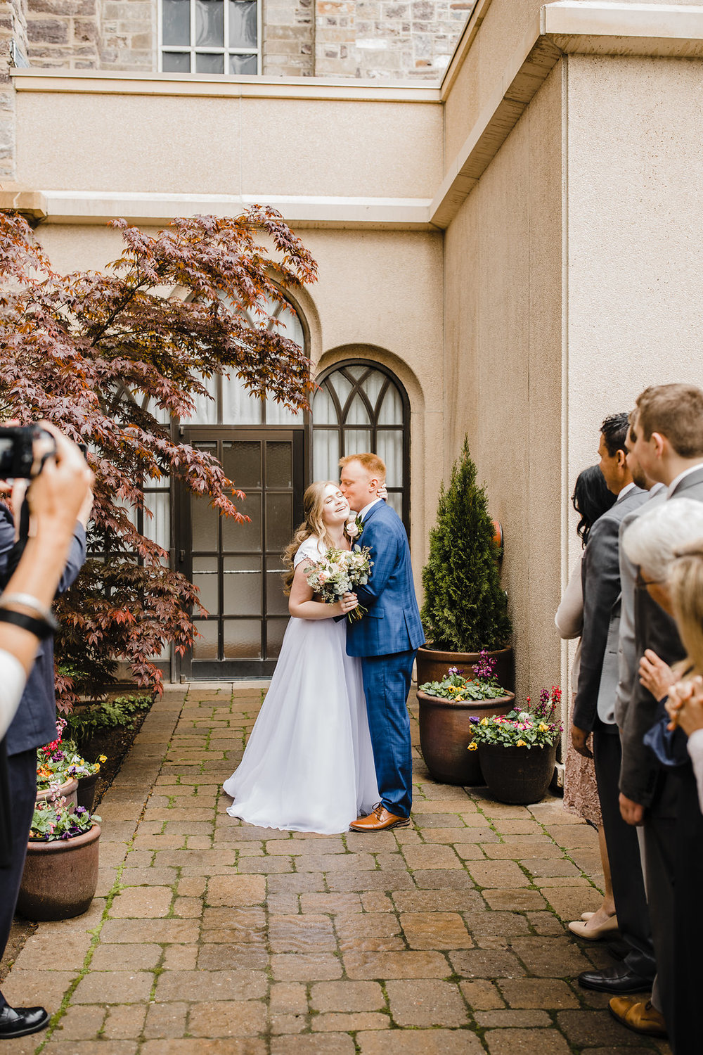 logan utah lds temple exit wedding day photographer in cache valley calli richards