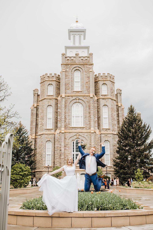 professional wedding photography at the logan utah lds temple summer wedding calli richards cache valley wedding day photos