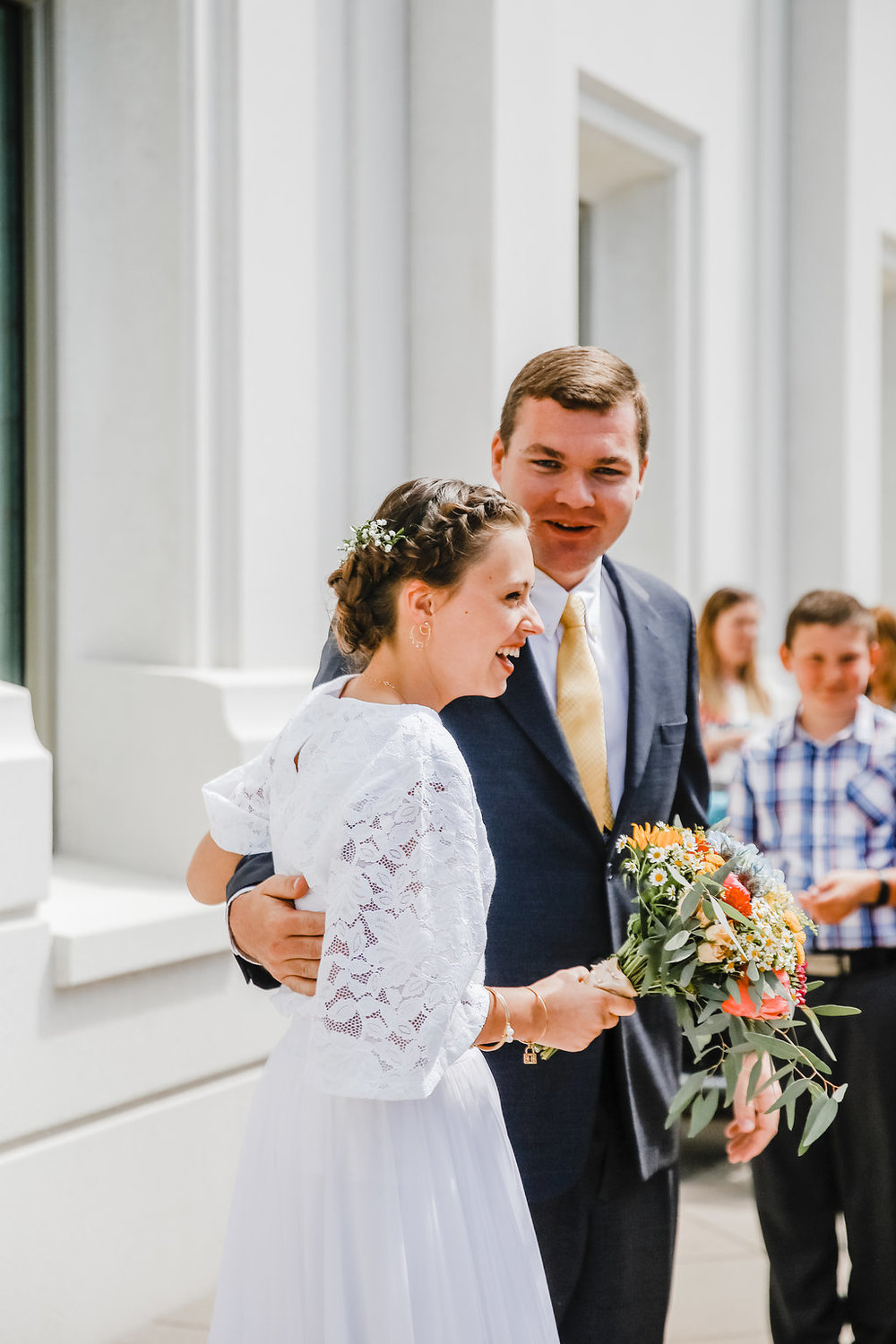 wedding day photographer calli richards at the brigham city lds temple northern utah